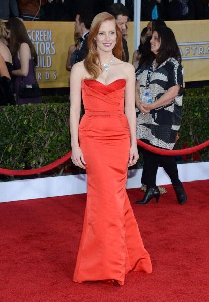 Jessica Chastain llevó otro memorable y ajustado vestido a la alfombra d...