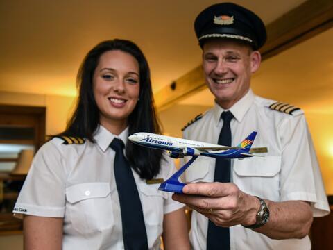 Padre e hija, ambos pilotos