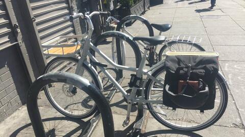 La nueva bicicleta Sladda de Ikea en su hábitat natural.