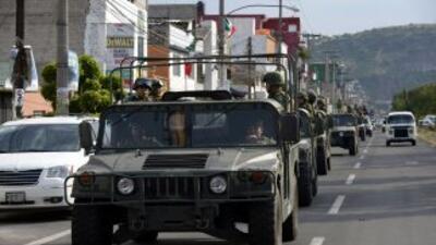 La Secretaría de la Defensa Nacional (Sedena mexicana) desplegó 500 efec...