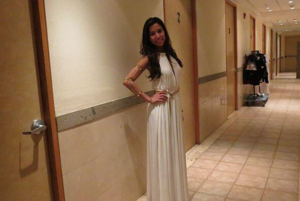 Virginia Stille lucirá este hermoso vestido blanco en la gala.