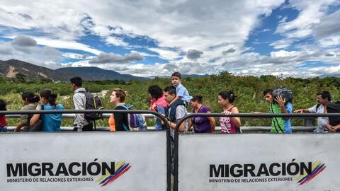 Un cruce exponenciado. Migración Colombia calcula que hay m&aacut...