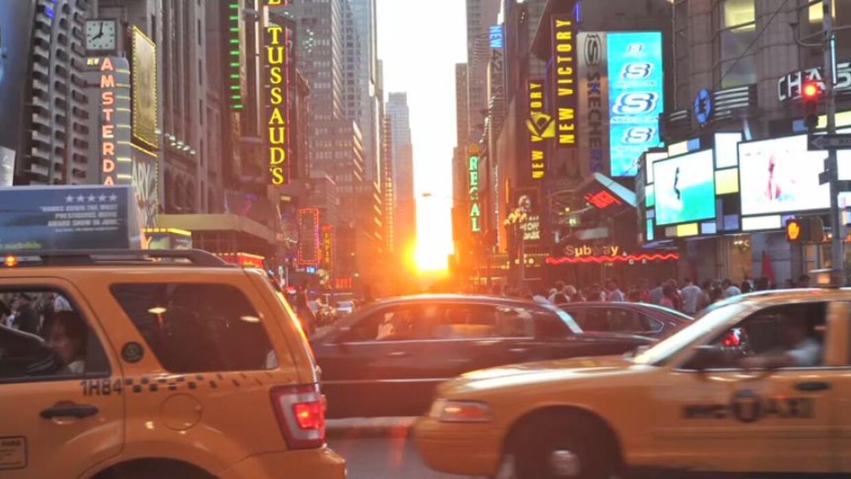 Puesta de sol en Manhattan