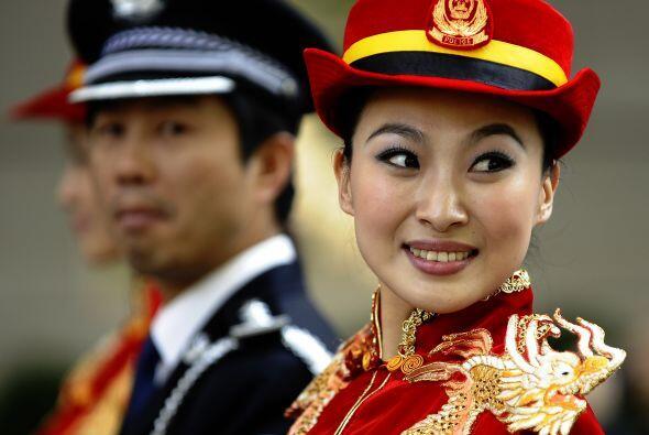 Desde el otro extremo del mundo voló la Banda de la Policía china para p...