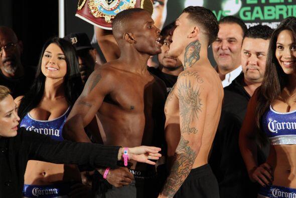 Los dos boxeadores se hablaron mucho durante el cara a cara.