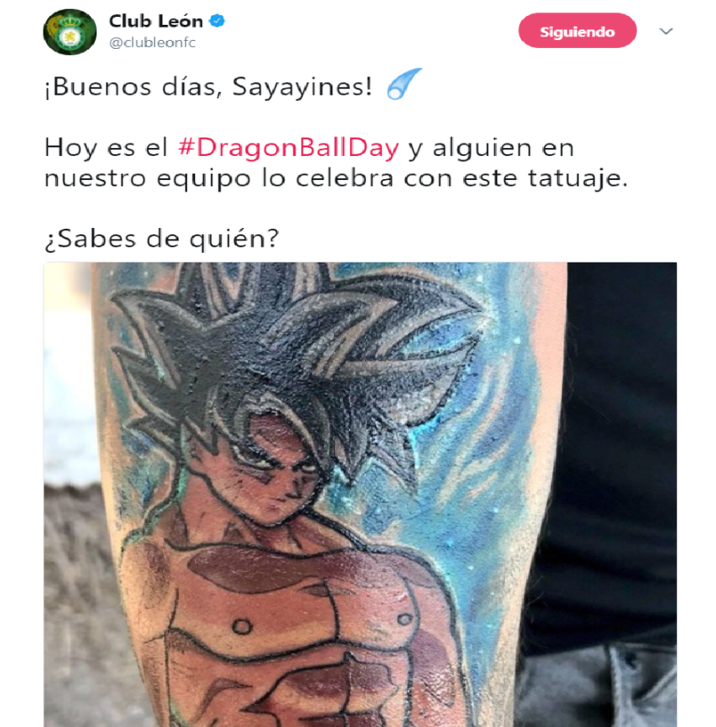 El Club León no se quedó atrás al publicar el tatuaje de Luis Montes par...