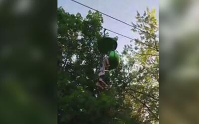 Una adolescente sobrevivió tras caerse de un juego mecánico en el parque...