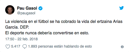 El deporte español se une en su dolor e indignación tras la muerte del p...