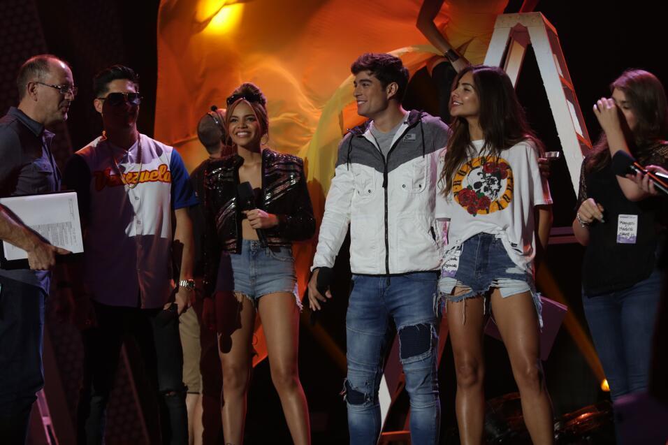 Los conductores en los ensayos de Premios Juventud.