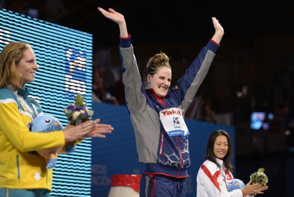 La estadounidense Missy Franklin se llevó el oro en los 100 metros espalda.