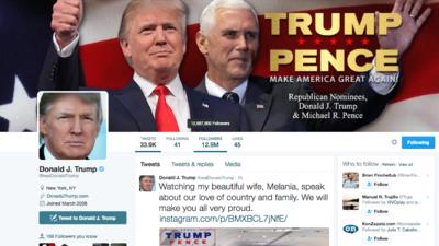 La cuenta de Twitter de Trump dejó de exisitir durante 11 minutos.
