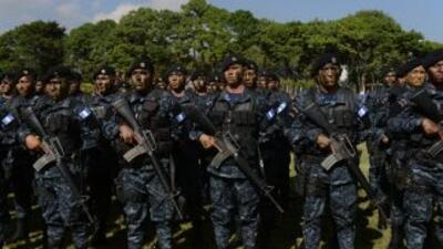 Miembros de la Policía Nacional Civil de Guatemala.