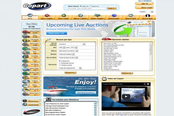 3. Copart Inc.  Sector de la industria: Automotriz.  Ejemplos de puestos...
