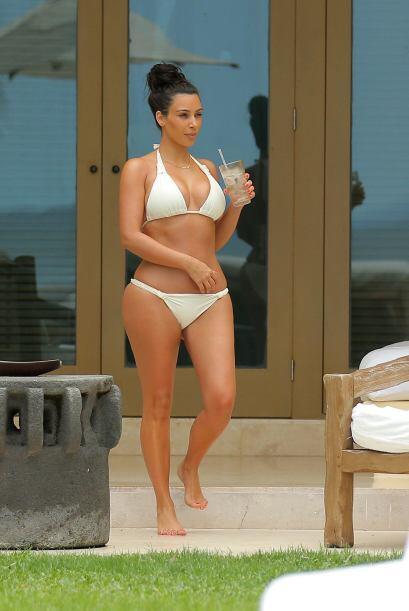 Hay que reconocer que Kim ha recuperado su figura tras tener a North West.