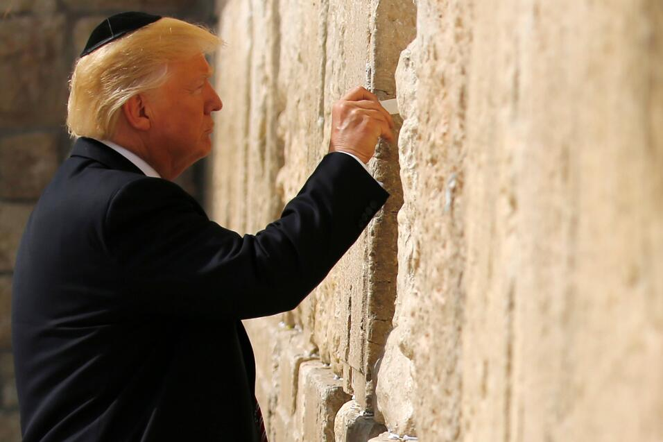 Donald trump Muro de los Lamentos Greatest Hits
