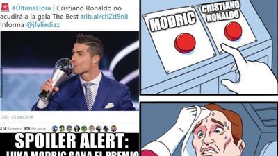 Memes de los premios The Best con Cristiano Ronaldo, Messi y Modric de protagonistas