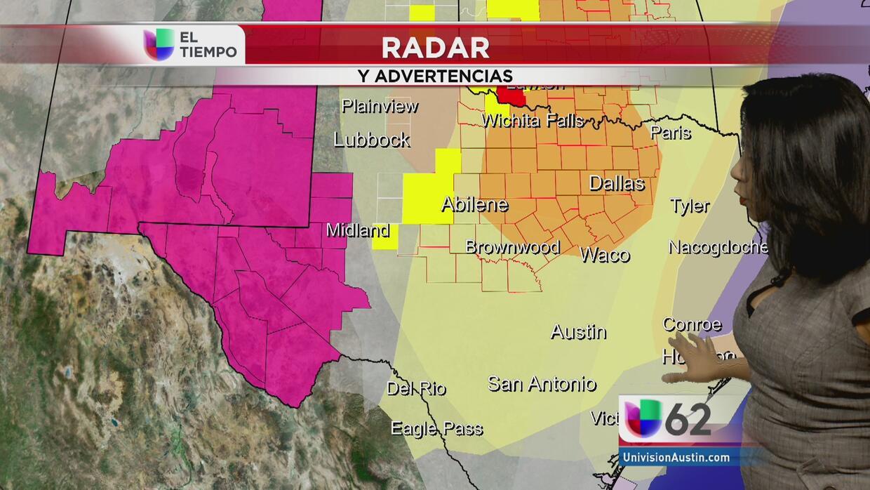 ¿Con qué intensidad llegarán las tormentas  a Texas?