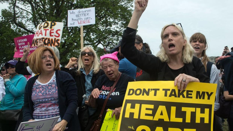 Protesta frente al Capitolio en Washington DC.