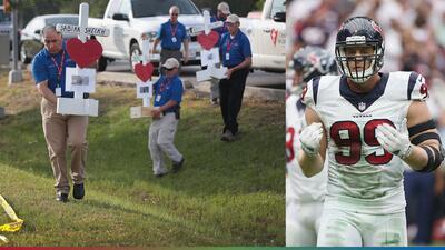 J.J. Watt, defensa de los Texans, pagará por los funerales de las víctimas del tiroteo en Houston