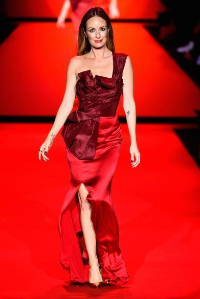 El vestido de Catt Sadler ofreció una mezcla entre la elegancia d...