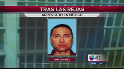 Ignacio Ruiz, detenido en México por asesinato.