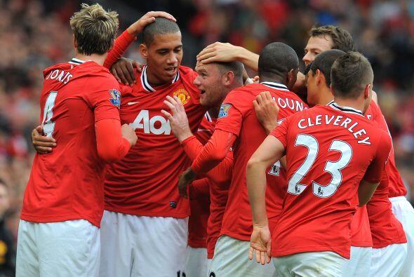 Un gol más que festejaban los hombres del United.