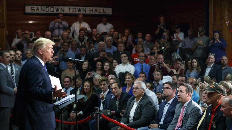 Trump en Sandown (New Hampshire).