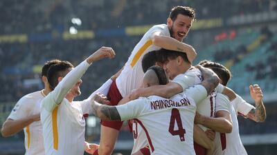 Roma logra en Verona su primer triunfo de 2018