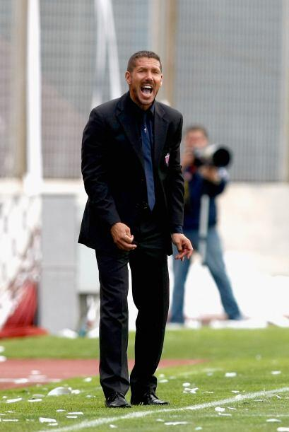 El Catania el estratega local, Diego Simeone buscaba triunfar con el Cag...