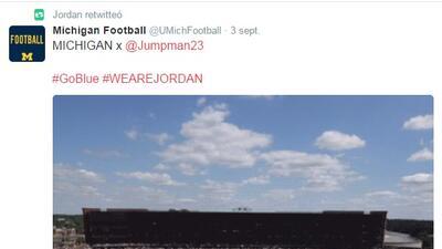 El 'Jumpman' de Jordan que recorrió las redes sociales tras el homenaje que le rindieron los Wolverines de Michigan