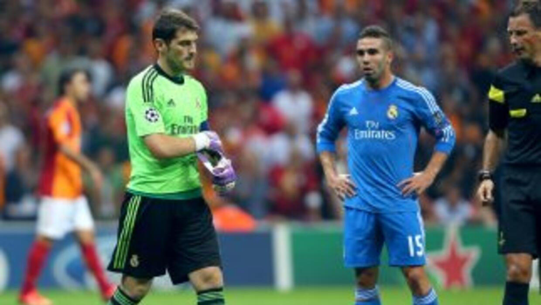 Iker Casillas salió lesionado en el encuentro ante el Galatasaray