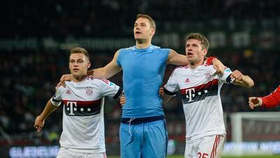 Neuer y Müller festejaron el triunfo