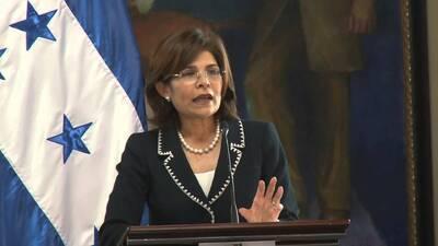 La ex ministra de Estrategia y Comunicaciones de Honduras, Hilda Hernánd...