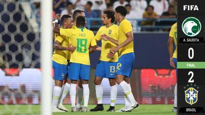 En el reencuentro de Neymar, Coutinho y Gabriel Jesus, Brasil derrotó a Arabia