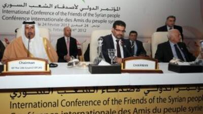 Los 'Amigos de Siria', conformados por 50 países, comenzaron sus sesione...