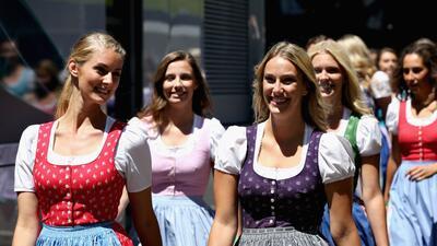 Colorido fuera de las pistas en el Gran Premio de Austria en Fórmula 1
