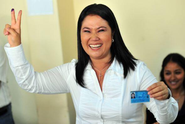 Keiko Fujimori recibió un 22.6% de los votos, lo que la coloca en el seg...