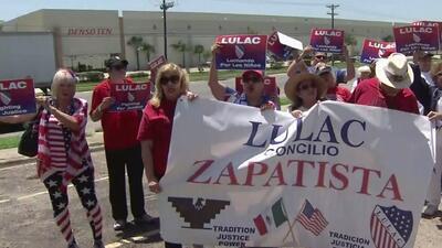 La organización LULAC de San Antonio viajó a la frontera a visitar un centro de detención