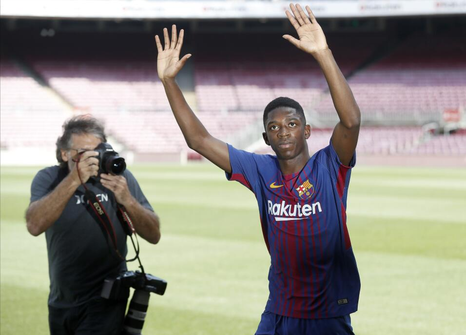 Ousmane Dembélé vuelve a los entrenamientos con Barcelona 63639530860792...