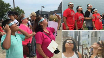 ¡Así se vivió el Eclipse Solar en Chicago!