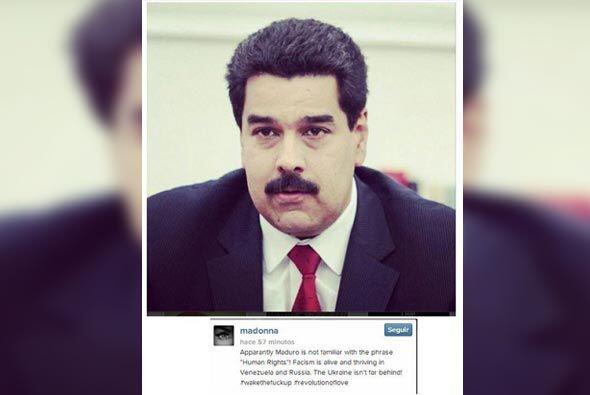 La cantante Madonna acusó al presidente de Venezuela de desconocer los d...