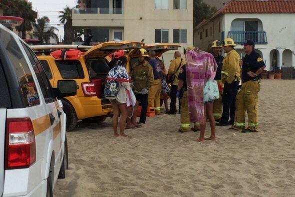 Testigos aseguran que la tormenta tomó por sorpresa a los bañistas.  Fot...