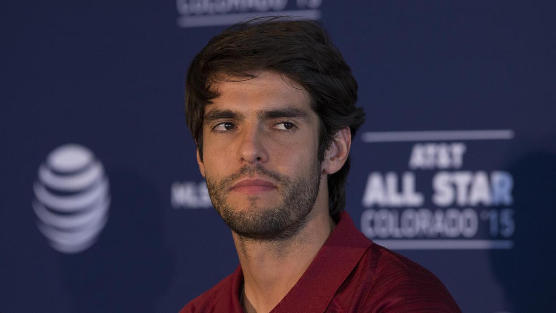 Kaká en conferencia de prensa del Partido de las Estrellas