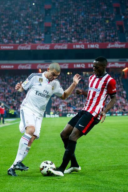 Pepe tampoco tuvo su mejor partido y dejó ver que todavía no recupera el...
