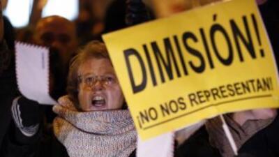 Indignación en España.
