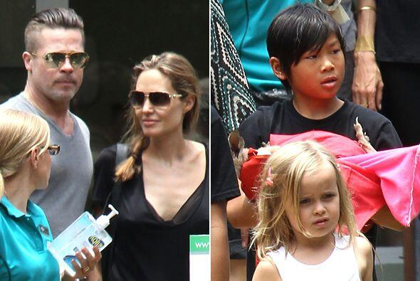 Brad Pitt y Angelina Jolie decidieron consentir a sus pequeños un...