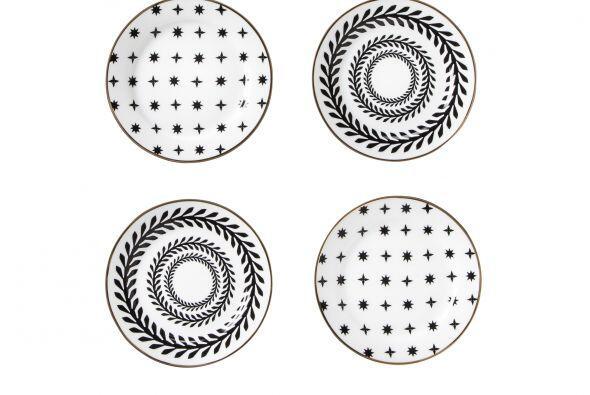 Tus postres lucirán deliciosos en este set de platos (4) de estilo clási...