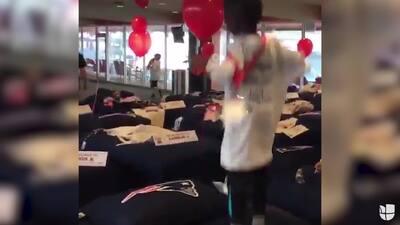 Patriots donaron 200 camas a 200 niños que jamás han tenida una propia