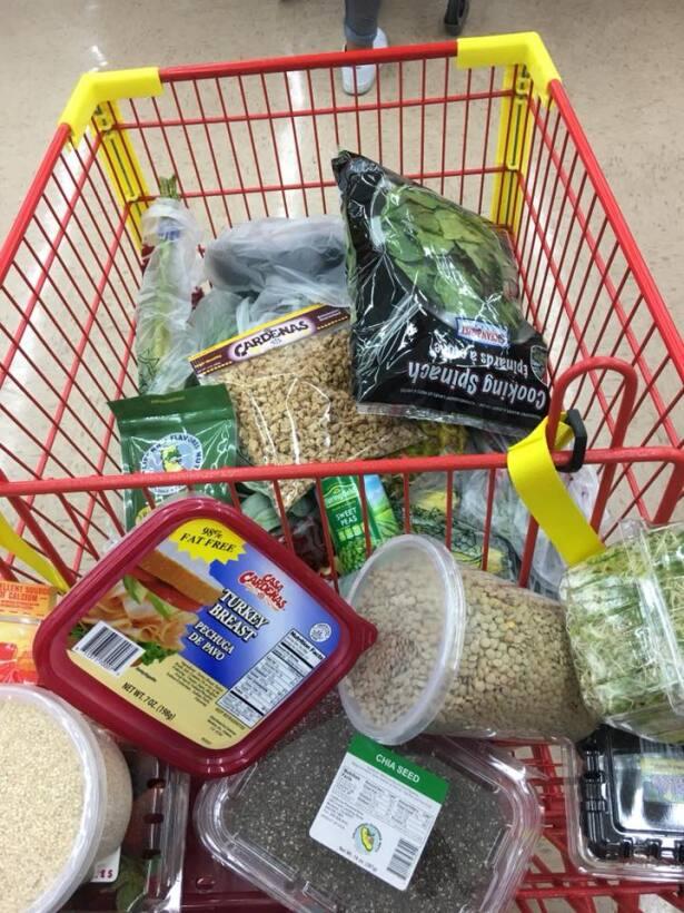 Una de las primeras tareas del reto fue comprar  la lista de ingrediente...