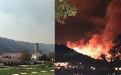 Imágenes del colegio Thomas Aquinas durante y después del...